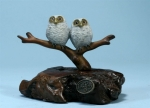 Double Owlets Sculpture