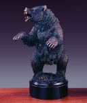 Bronze Plated Bear Sculpture