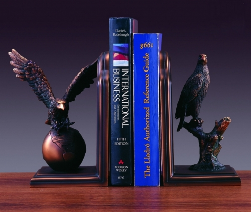 Bronze Plated Eagle Bookends