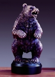 "13"" Bronze Plated Bear Sculpture"