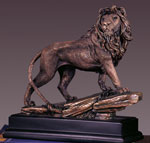 Bronze Plated Lion Sculpture