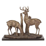 Deer Pair Sculpture
