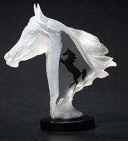 """Royal Arabian"" Horse Lucite Sculpture"