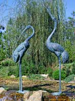 Extra Extra Large Crane Pair Fountains