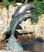 "39"" Dual Leaping Dolphins Fountain"