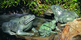 "12"" Crouching Frog Water Fountain"