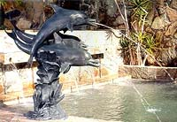 Trio Dolphin Fountain