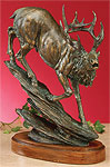 Bronzed Elk Sculpture