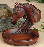 Horse Bust Desk Tray/Business Card Holder