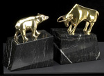 """Wall Street"" Bull & Bear Brass Bookends"