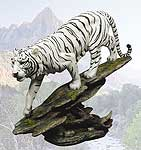 Stealth White Tiger Sculpture